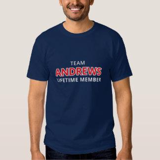 Team Andrews Lifetime Member Tshirts