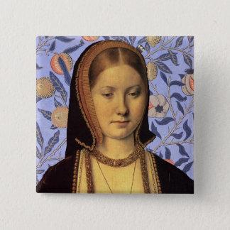 Team Aragon - Portrait Queen Catherine of Aragon 15 Cm Square Badge