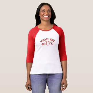 Team Ari women's baseball shirt