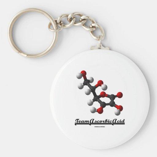 Team Ascorbic Acid (Chemical Molecule Vitamin C) Key Chain