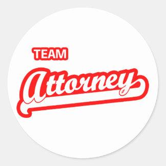 Team Attorney Round Sticker