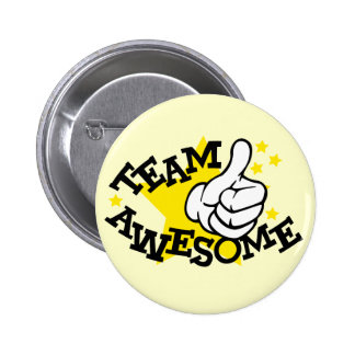 Team Awesome 6 Cm Round Badge
