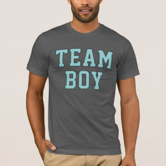 Team Baby Boy | Men's Blue and Gray Shirt