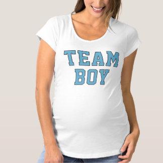Team Baby Boy | Women's Blue Maternity Shirt