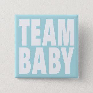 Team Baby on Blue 15 Cm Square Badge