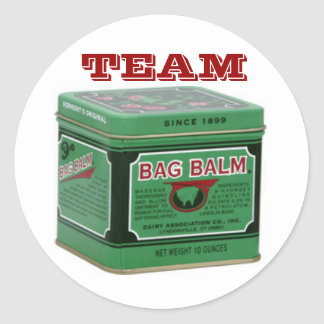 Team Bag Balm Round Sticker
