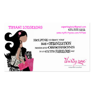 Team BAG Ladies Biz Cards Pack Of Standard Business Cards