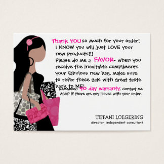 Team BAG Lady customer thank you cards