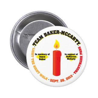 Team Baker-McCarty Light the Night Walk 2013 6 Cm Round Badge