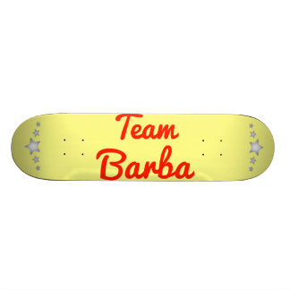 Team Barba Skateboard Decks
