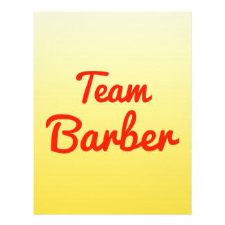 Team Barber Personalized Flyer