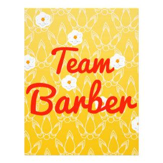 Team Barber Custom Flyer