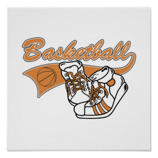 Team Basketball With Shoes Tshirts and Gifts Print