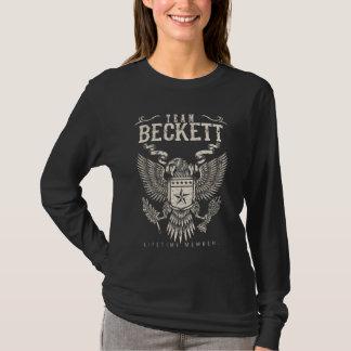 Team BECKETT Lifetime Member. Gift Birthday T-Shirt