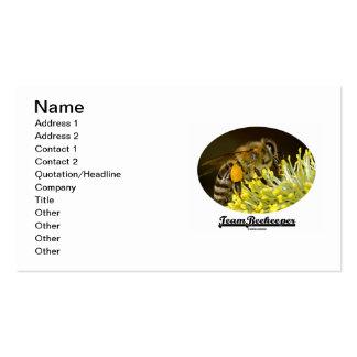 Team Beekeeper (Bee On Yellow Flower) Business Card