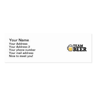 Team beer business card