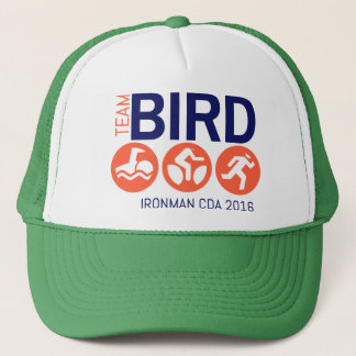 Team Bird Orange Trucker Hat