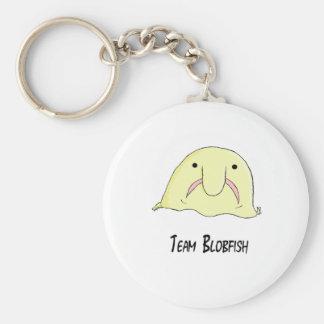 team blob basic round button key ring