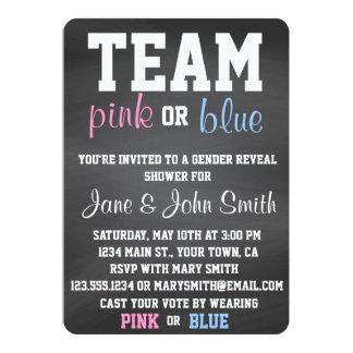 Team Blue or Pink Gender Reveal Invitation