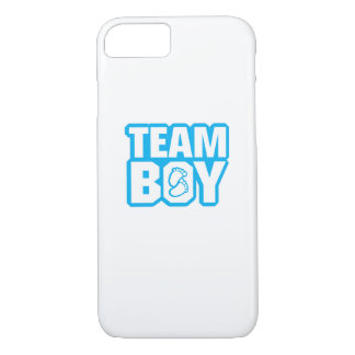 Team Boy Baby Shower Gender Reveal Funny Pregnancy iPhone 8/7 Case