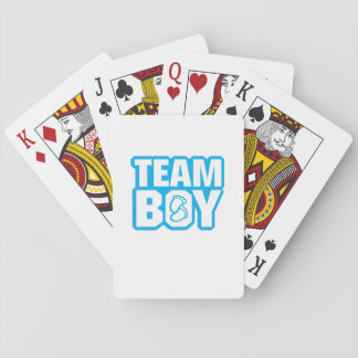Team Boy Baby Shower Gender Reveal Funny Pregnancy Playing Cards