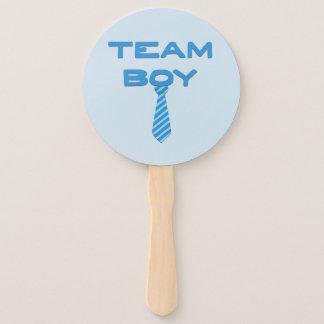 Team Boy with Necktie Hand Fan