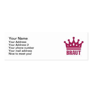 Team Braut Business Cards