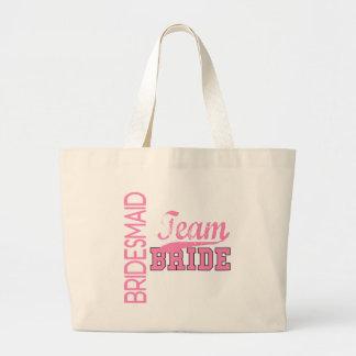 Team Bride 1 BRIDESMAID Jumbo Tote Bag