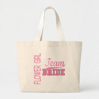 Team Bride 1 FLOWER GIRL Canvas Bag