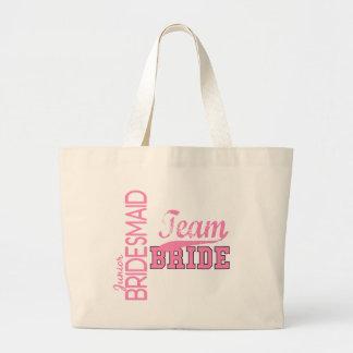 Team Bride 1 JUNIOR JR BRIDESMAID Jumbo Tote Bag