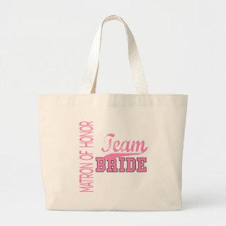 Team Bride 1 MATRON OF HONOR Tote Bags
