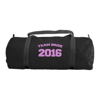 Team bride 2016 gym duffel bag