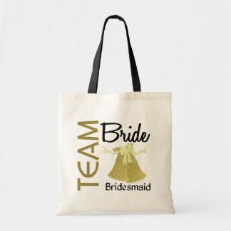 Team Bride 2 Bridesmaid Budget Tote Bag