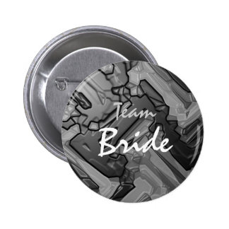 Team Bride Abstract Paint  Button