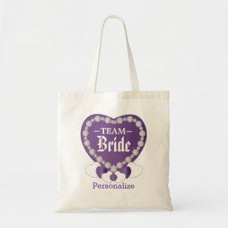 Team Bride   Amethyst Purple   Personalize Budget Tote Bag