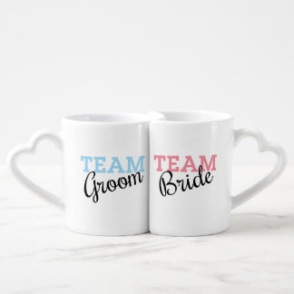 Team Bride and Groom Script Couple Mugs