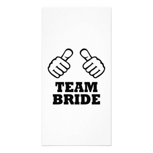 Team bride bachelorette party personalized photo card