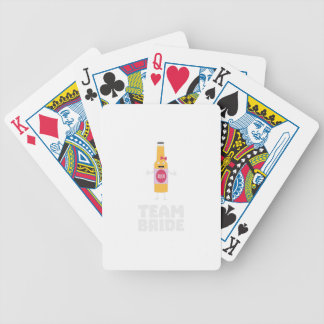 Team Bride Beerbottle Z5s42 Bicycle Playing Cards