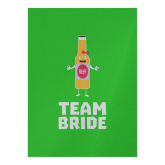 Team Bride Beerbottle Z5s42 Card
