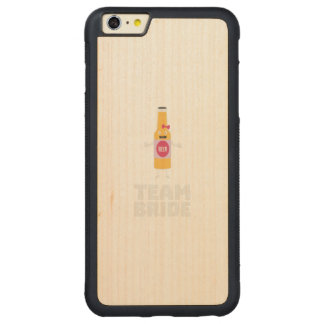 Team Bride Beerbottle Z5s42 Carved Maple iPhone 6 Plus Bumper Case