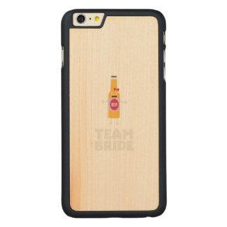 Team Bride Beerbottle Z5s42 Carved Maple iPhone 6 Plus Case