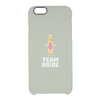 Team Bride Beerbottle Z5s42 Clear iPhone 6/6S Case