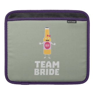 Team Bride Beerbottle Z5s42 iPad Sleeve