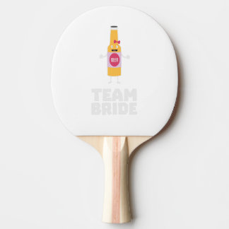 Team Bride Beerbottle Z5s42 Ping Pong Paddle