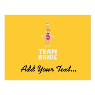 Team Bride Beerbottle Z5s42 Postcard