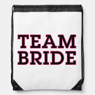 Team Bride Black Outline Backpack