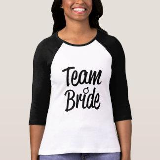 Team Bride Black Script bridesmaid shirt