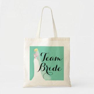 Team Bride Blond Bride Budget Tote Bag