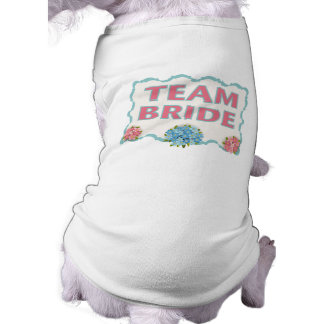 Team Bride (blue floral) Sleeveless Dog Shirt