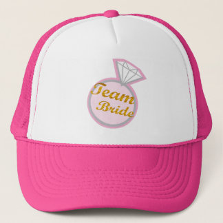 team bride bridal shower wedding hat
